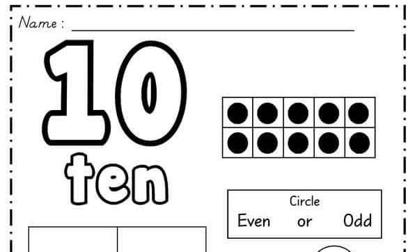 شيتات تعليم الاطفال من 1 ل 100