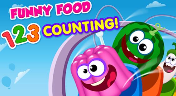 تطبيق لعبة الغداء المضحك لتعليم العد للأطفال