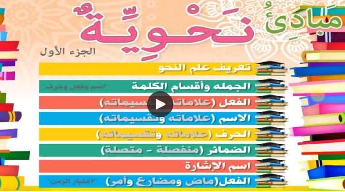 مبادئ النحو العربي ?الجزء الأول?