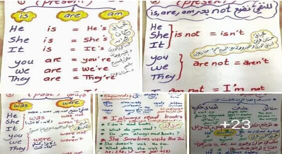 مذكرة شرح وتأسيس لغة انجليزية رائعة للمرحلة الابتدائية