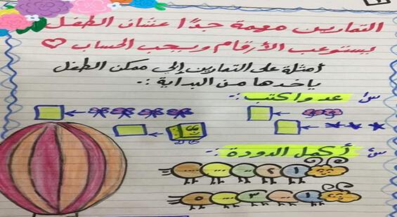 مذكرة تأسيس الحساب كي جي 1 كي جي 2