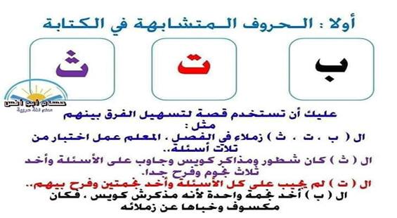 أوراق عمل اللغة العربية وتأسيس الأطفال بطريقة مبسطة